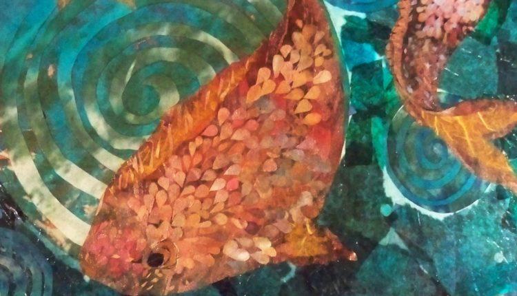 Nancy Yergin Pisces collage detail