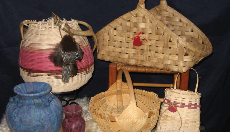 Sharon Reiland felting and basketry