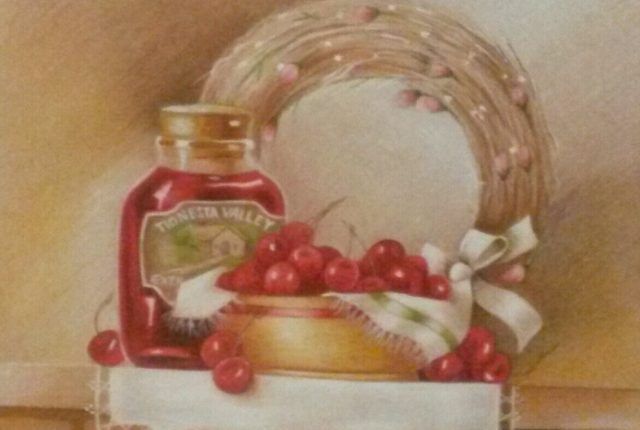 Stiffler-cherries-colored-pencil
