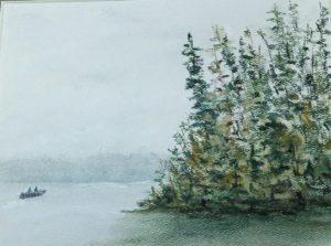 Pat Mays boat on lake